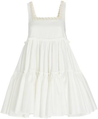 Aje Hushed Tiered Mini Dress