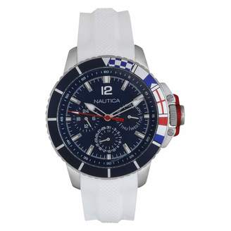 Nautica Unisex Adult Quartz Watch with Silicone Strap NAPBHP902