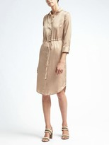 Banana Republic Charmeuse Shirtdress