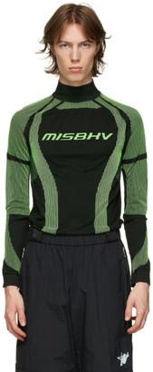 Misbhv Black and Green Active Turtleneck