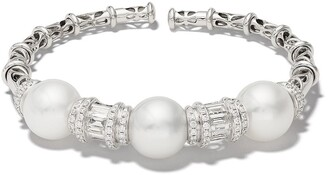 Yoko London 18kt white gold Starlight South Sea pearl and diamond bracelet