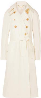 Chloé Oversized Denim Trench Coat - White