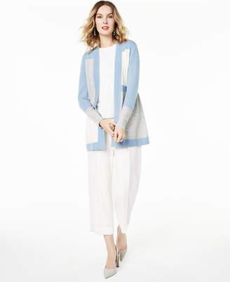 Charter Club Colorblocked Pure Cashmere Cardigan, Regular & Petite Sizes