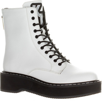 KENDALL + KYLIE Women's Casual boots WHITE - White Hunt Combat Boot - Women