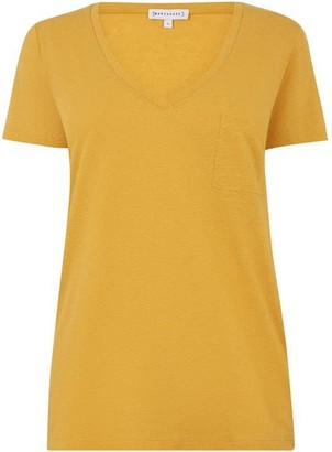 Warehouse Linen V Neck T-Shirt