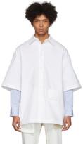 Palm Angels White Striped Sunset Shirt