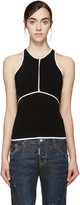 DSQUARED2 Black and White Racerback Top