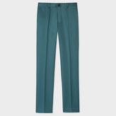 Paul Smith Men's Slim-Fit Dark Green Cotton-Linen Blend Chinos