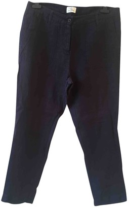 Stella Forest Navy Linen Trousers for Women