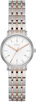DKNY Women's Dress Case Two-Tone Stainless Steel Bracelet Watch 28mm NY2512