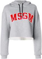 MSGM logo cropped hoodie