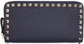 Valentino Navy Rockstud Continental Wallet