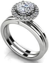 PEACOCK JEWELS GIA Certified 14K Gold (HallMarked) Diamond Enchantment Matching Bridal Set Size - 8