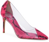 Vince Camuto Poised Snake Embossed Clear Pump