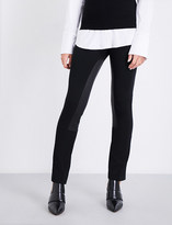 Theory Elasticated-panel skinny stretch-jersey trousers