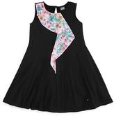 Armani Junior Girls' Mesh Ruffle Dress - Big Kid