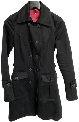 Dondup Black Cotton Coat for Women