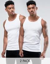 G-star Raw Vest In 2 Pack White