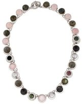 Eddie Borgo Rose Quartz, Labradorite & Hematite Collage Necklace