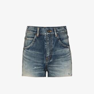 Saint Laurent Vintage Wash Denim Shorts