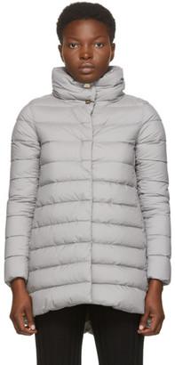 Herno Grey Down Matte Amelia Coat