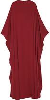 Valentino Silk-georgette Gown - Burgundy