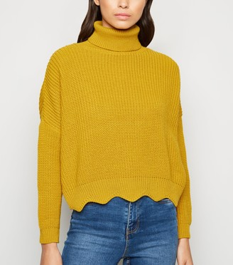 New Look Carpe Diem Scallop Hem Jumper