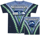 Liquid Blue Seattle Seahawks - Logo V-Dye Tie Dye T-Shirt