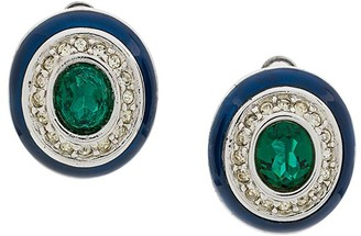 Nina Ricci Pre-Owned Oval Clip On Earrings