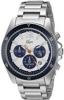 Lacoste Men's 2010753 Seattle Analog Display Japanese Quartz Silver Watch