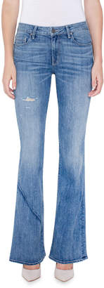 Parker Smith Becky Boot-Cut Jeans w/ Distressing