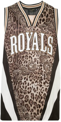 Dolce & Gabbana Royals leopard-print vest