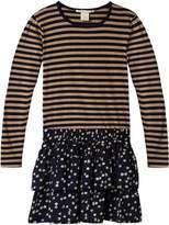 Scotch & Soda Ruffle Skirt Jersey Dress