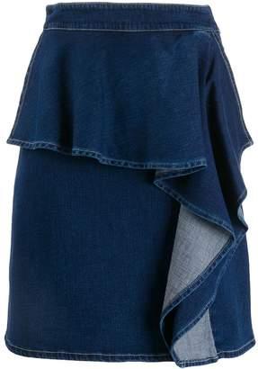 See by Chloe ruffle denim skirt