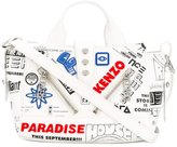 Kenzo Kalifornia flyers print shoulder bag - women - Cotton/Leather/Nylon - One Size