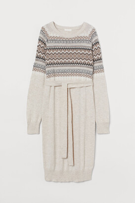 H&M MAMA Jacquard-knit Dress