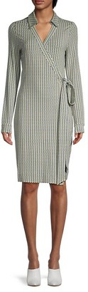 Diane von Furstenberg Printed Tie-Waist Wrap Dress