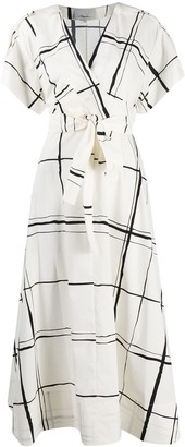 3.1 Phillip Lim Windowpane Print Wrap Dress