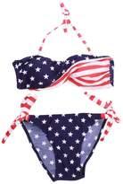 AshopZ Two-Piece USA Flag Bikini Stars Stripes Padded Swimwear Swimsuit, L