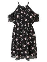 Jeanswest Annabelle Cold Shoulder Printed Dress-Multi Black-6