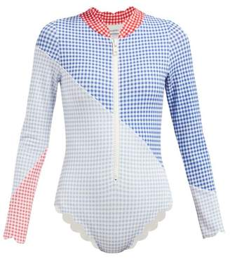 Marysia Swim North Sea Gingham Zip Front Paddle Suit - Womens - Multi