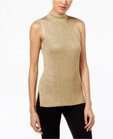 Calvin Klein Metallic Mock-Neck Sweater