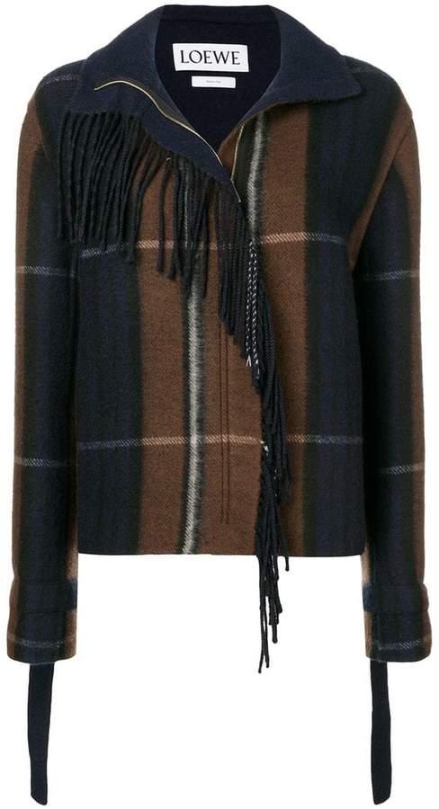 Loewe check pattern jacket