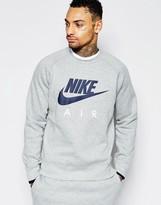 Nike Crew Neck Sweat In Grey 727385-063