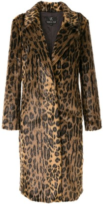 Unreal Fur Leopard-Print Coat