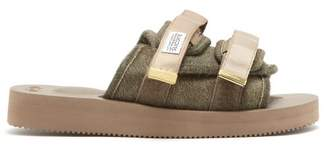 Suicoke Moto Vhl Calf Hair Slides - Mens - Brown
