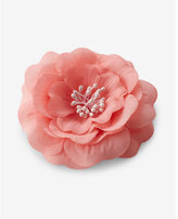 Express light pink flower hair clip and pin