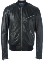 Dolce & Gabbana zip bomber jacket - men - Silk/Leather/Polyester - 54