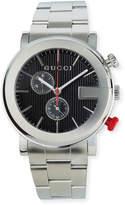 Gucci Men's 44mm G-Chrono Watch w/ Bracelet Strap, Silver