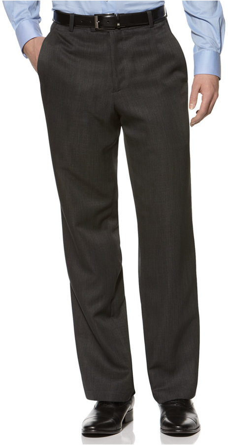 Kenneth Cole Reaction Straight-Fit Texture Stria Dress Pants